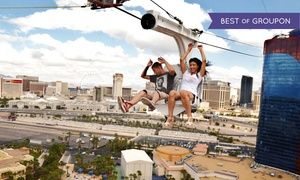 Groupon - $ 44 for VIP Ride Package for Two at VooDoo Zipline at Rio Las Vegas ($119 Value) in Rio Hotel . Groupon deal price: $44