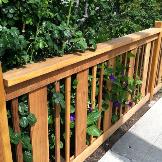 alternation of wide and narrow verticals makes nice pattern top horizontal much wider horizontall than patio railingrailing ideasfront - Patio Handrail Ideas