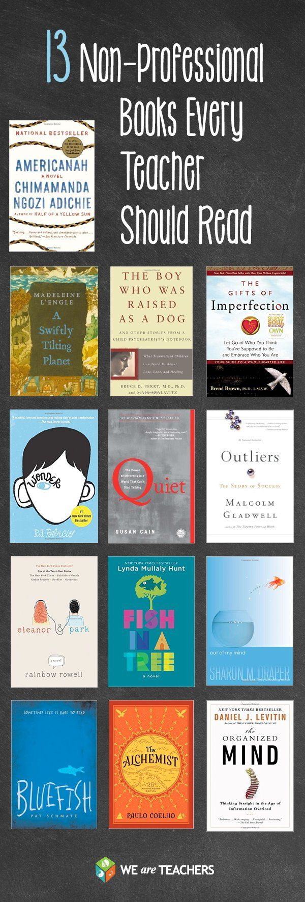 """Sabrina Tyrer on Twitter: """"13 Non-Professional Books every teacher should read"""
