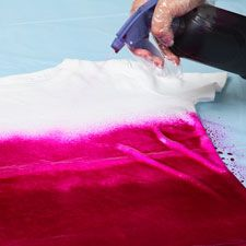 How to make your own ombre tie dye shirt.