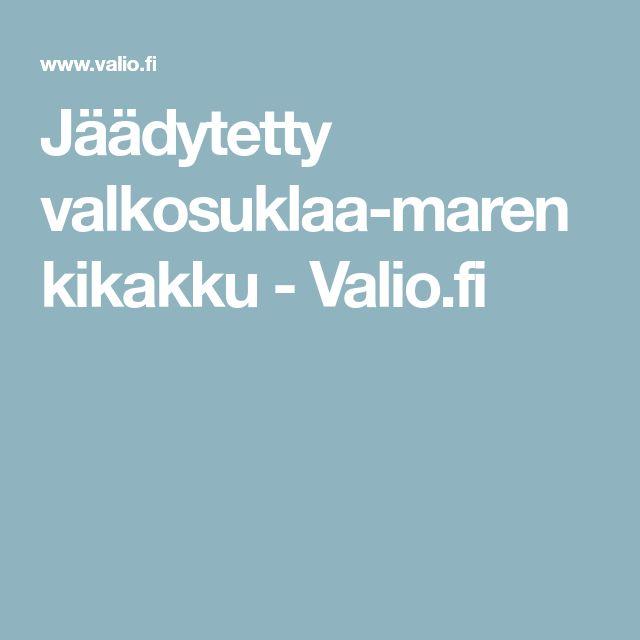 Jäädytetty valkosuklaa-marenkikakku - Valio.fi