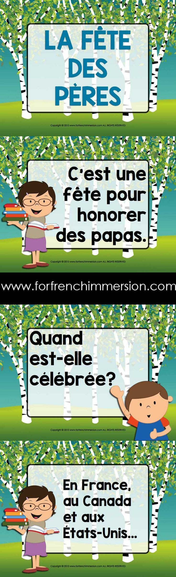 Fête des pères - Slideshare about Father's Day in French.