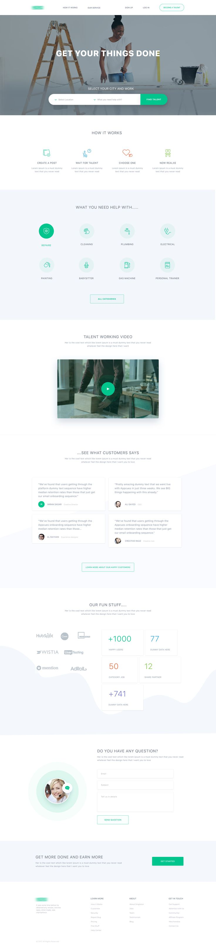 Home page design by masum