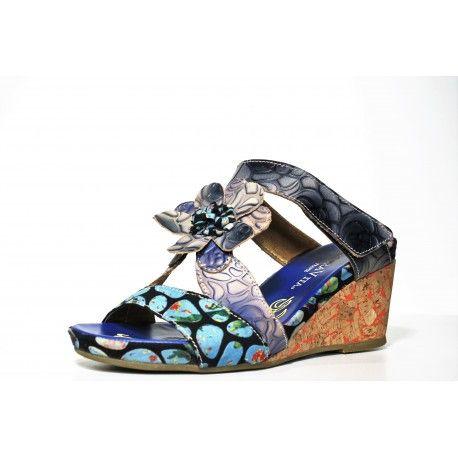 Mule Laura vita bleu boutique de chaussure cardel 3 rue henri fabre 84000 Avignon à découvrir www.cardel-chaussures.com