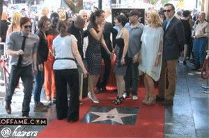GIF - Norman Reedus :) This is from Gale Ann Hurd's star on the hollywood Walk of Fame XD click on it to watch