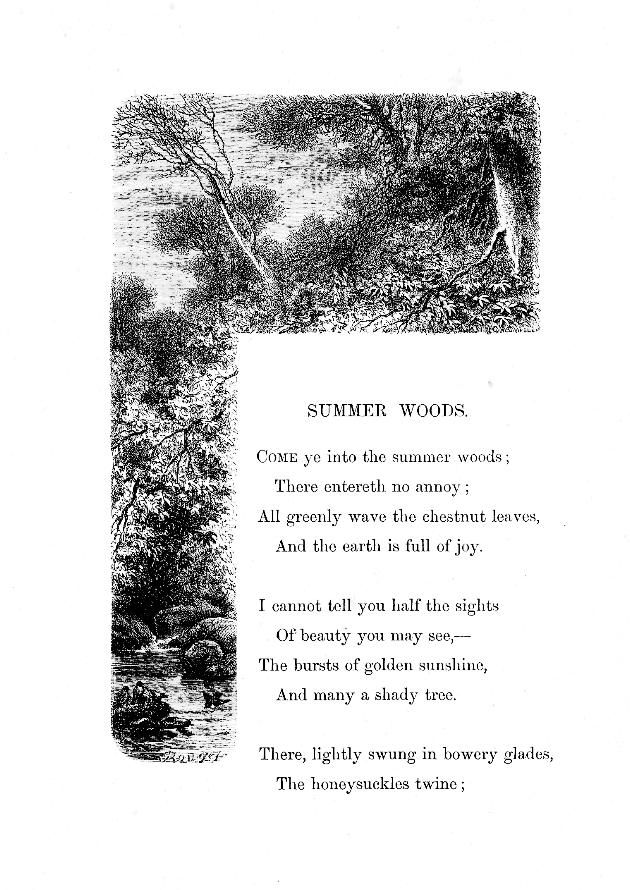 """Summer Woods"" Birds and flowers, or, Lays and lyrics of"