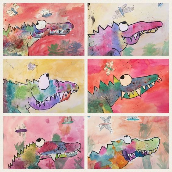 Art Room Britt: Catherine Rayner 'Solomon the Crocodile' in Watercolor a…