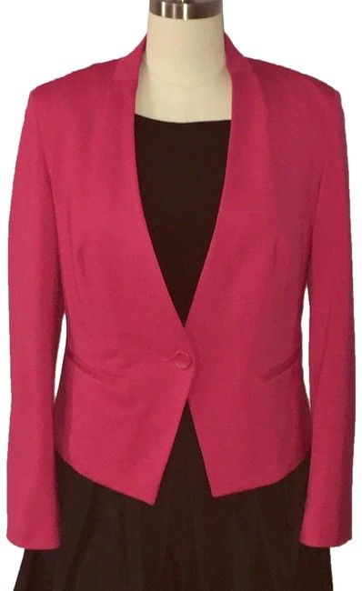 4a4be5ae INC International Concepts Pink Hot Single Button Blazer Size 12 (L) -  Tradesy