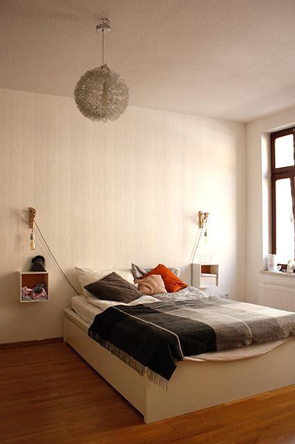 Stunning Gem tliches Schlafzimmer mit sch nem Holzfu boden einer Zimmer Wohnung in Leipzig Zwischenmiete
