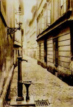 Průhled Maiselovou ulicí. J. Eckert, 1895
