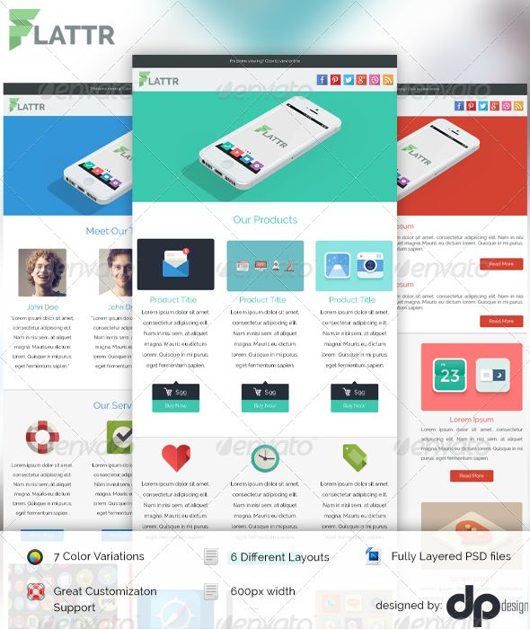 9 best images about psd templates on pinterest for Modern email design