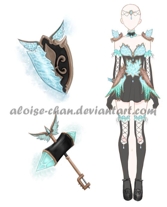 [OPEN] Ice Set Design Adoptable by Aloise-chan.deviantart.com on @DeviantArt