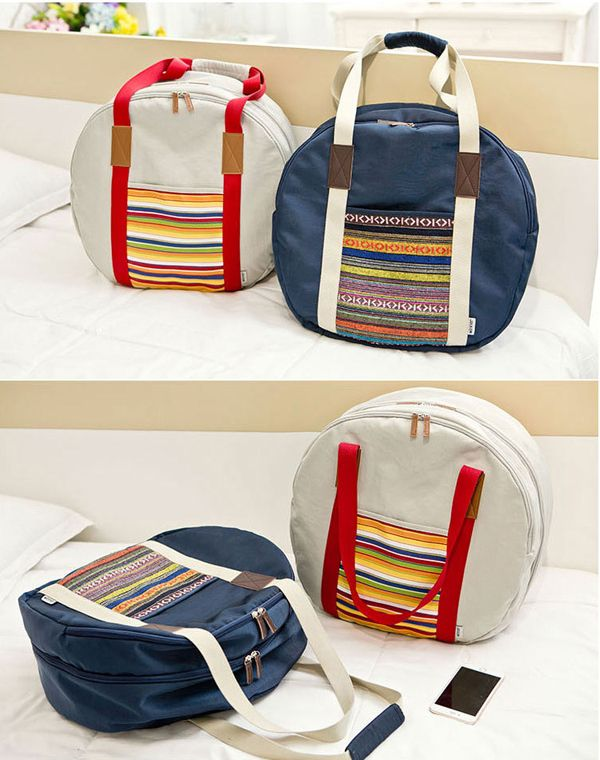 Women Oxford Cloth Waterproof National Style Hangbag Luggage Travel Bag