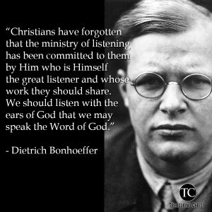 Listen with the ears of God to speak the word of God...