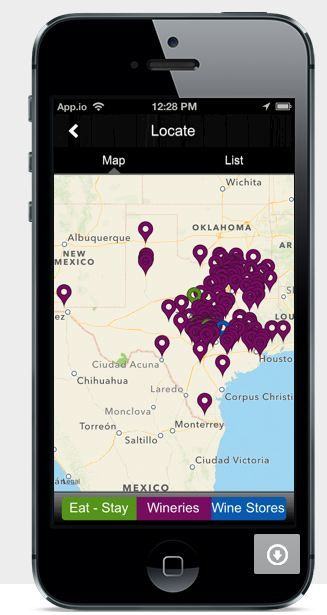 Texas Wine and Trail Travel App - All Texas wineries w/ GPS directions, wine stores, lodging, reviews + more! iTunes & Google Play