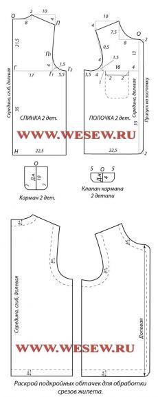 Выкройка жилетки: мужской и женский вариант, а также для девочки и для мальчика