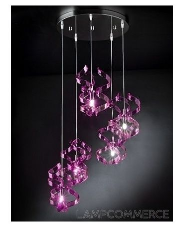 Metallux astro hanging lamp diam 40 with 5 pendents design s t metallux