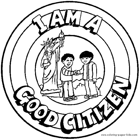 I am A Good Citizen - Coloring Book Page