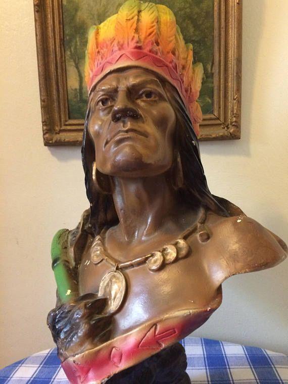 VENTE Antique Native American Iroquois Cigar Store indien
