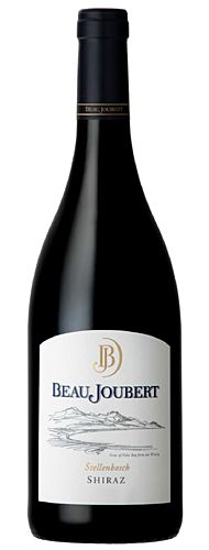 Beau Joubert Shiraz 2010  Soft, juicy tannins! Beau Joubert is a picturesque wine estate situated in the Polkadraai Hills along the Stellenbosch Wine Route. Steeped in history, Beau Joubert's winemaking practices date back to 1695 when Governor of the Cape, Simon van der Stel, allocated this remarkable land, titled then as Veelverjaagt, to a Coenraed Visser.