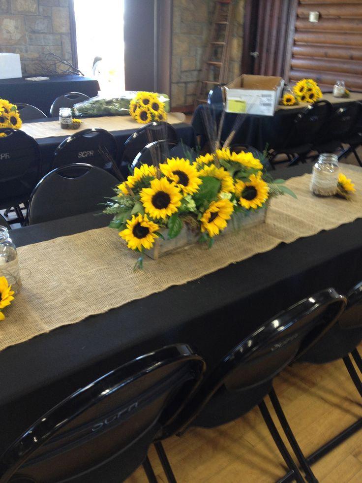 sunflower country wedding in handmade pallet boxes