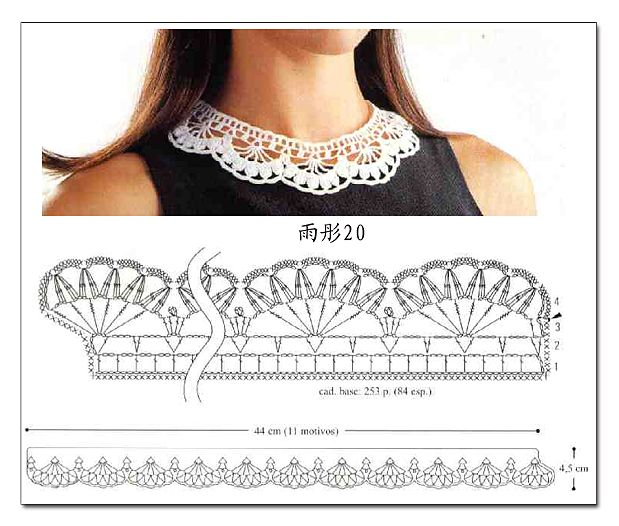 Pretty crochet collar