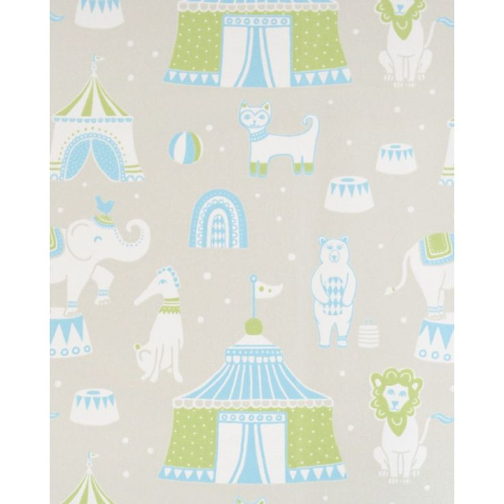 Circus Wallpaper by Majvillan | Available from www.wallpaperantics.com.au