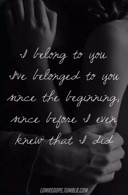 Yess<3 I do belong to him && he belongs to me <3 path don't cross over and over again for no reason. Fate brought us together.