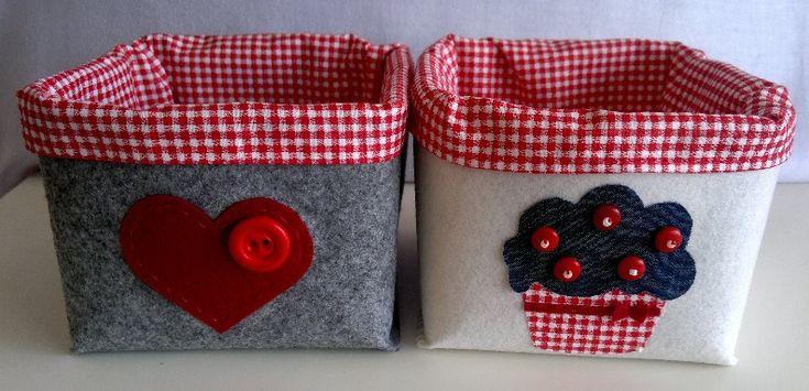 Keçe 2'li çok amaçlı kutu. İç astarı yıkanabilir. Sipariş için evimicinhersey@gmail.com Felt 2 pcs storage basket.