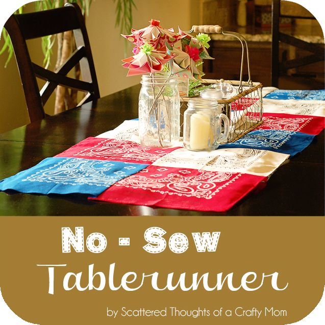 Scattered Thoughts of a Crafty Mom: No Sew Table Runner