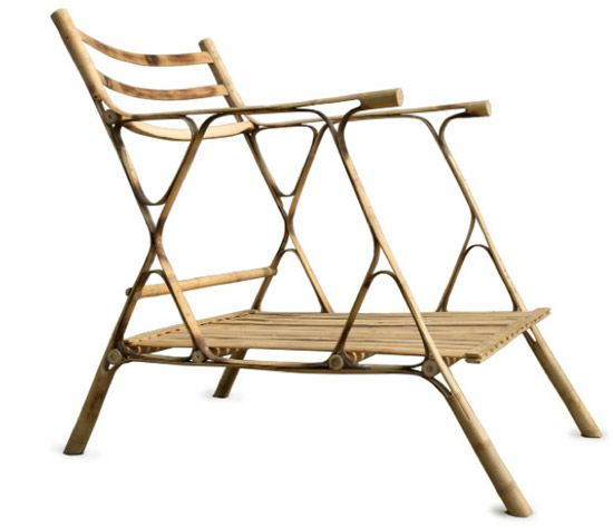chair by indian bamboo furniture systems.