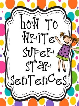 Everything you need to help beginner writers learn to write a sentence.  It introduces the steps one at a time, allowing plenty of practice activities along the way.  (Not to mention, it's LOTS of fun!)This 22 page set covers:-Capitalization-Statement Sentences-Question sentences-Exclamation sentences-Punctuation-Subject-Actions-Sentence Details