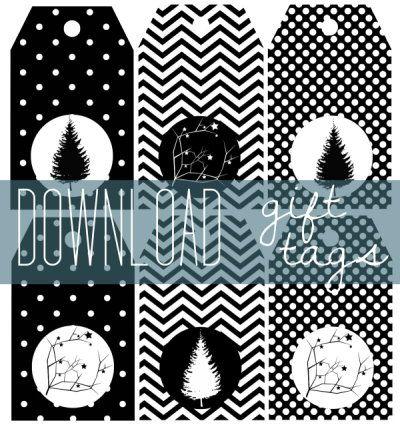 Bilder Weihnachten Kostenlos Schwarz Weiß.Gift Tags Printables Geschenkanhänger