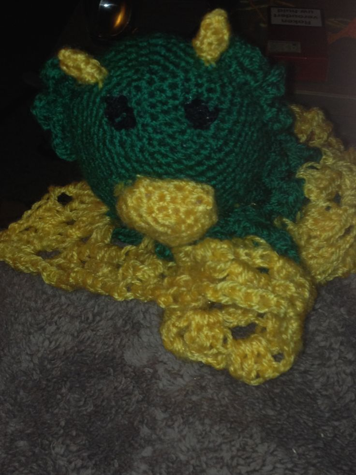 Dragon blanket buddy - crochet
