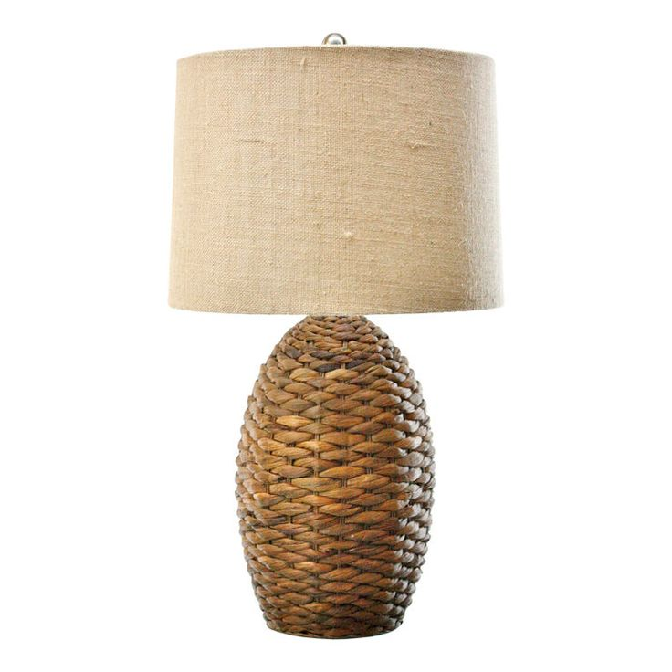 Brown Rattan Table Lamp Base - 17 in.