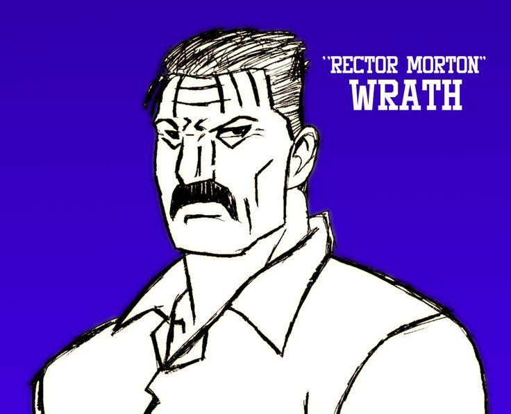 Principle Morton/Wrath, one of the main antagonists of my first novel. Based on King Bradley, created by Hiromu Arakawa