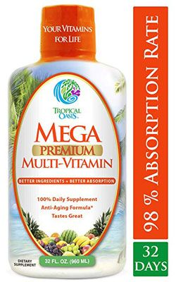10  Tropical Oasis Mega Premium Natural Liquid Multivitamin