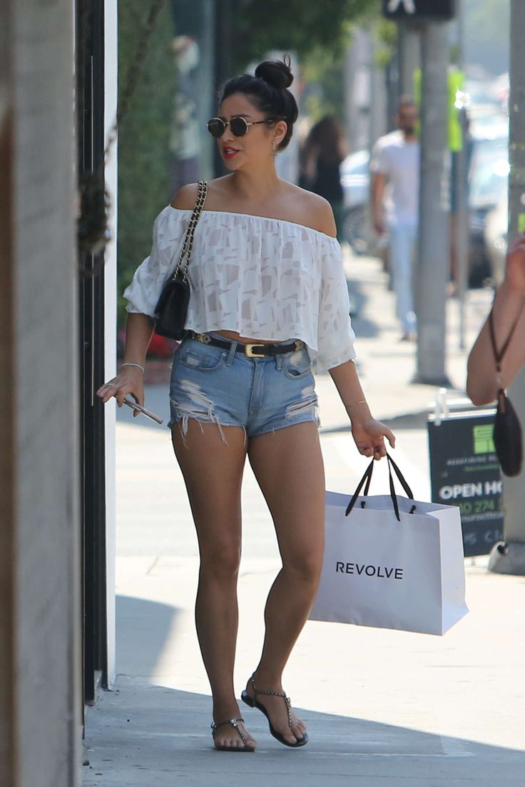 Shay Mitchell in Jeans Shorts