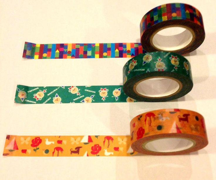 【店頭商品】サクラクレパスデザインのマスキングテープ入荷しました!クレパス、クレヨン、クーピーの3種。全種欲しくなる可愛さです。各380円(税抜)