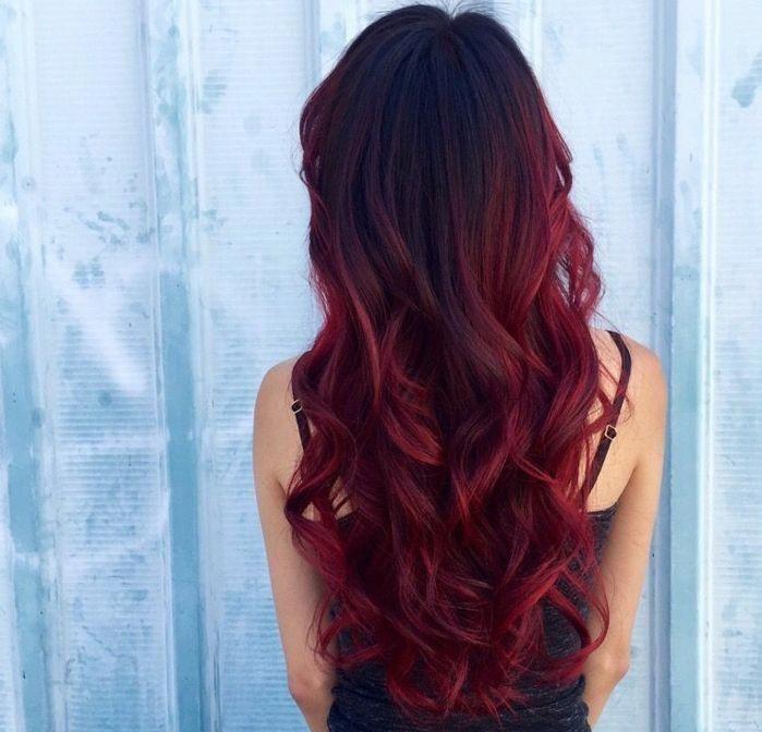 Preciosa Cabellera En Color Rojo Fuego Mechas Mas Claras Ejemplos De Pelo Con Puntas Californian Hair Color For Black Hair Pretty Hair Color Long Auburn Hair
