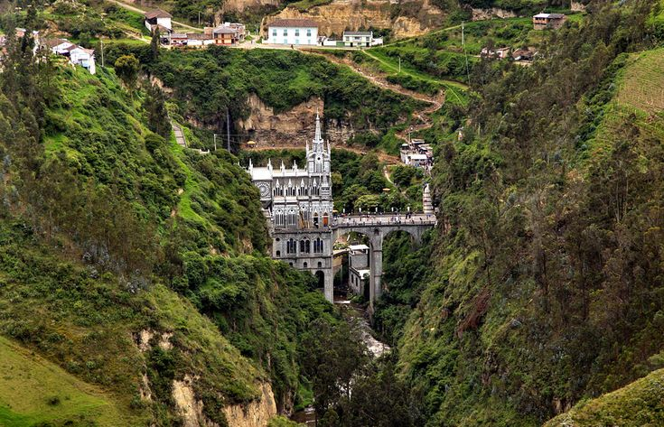 Most Unique Churches In The World: Las Lajas Sanctuary, Colombia (source: wiki)