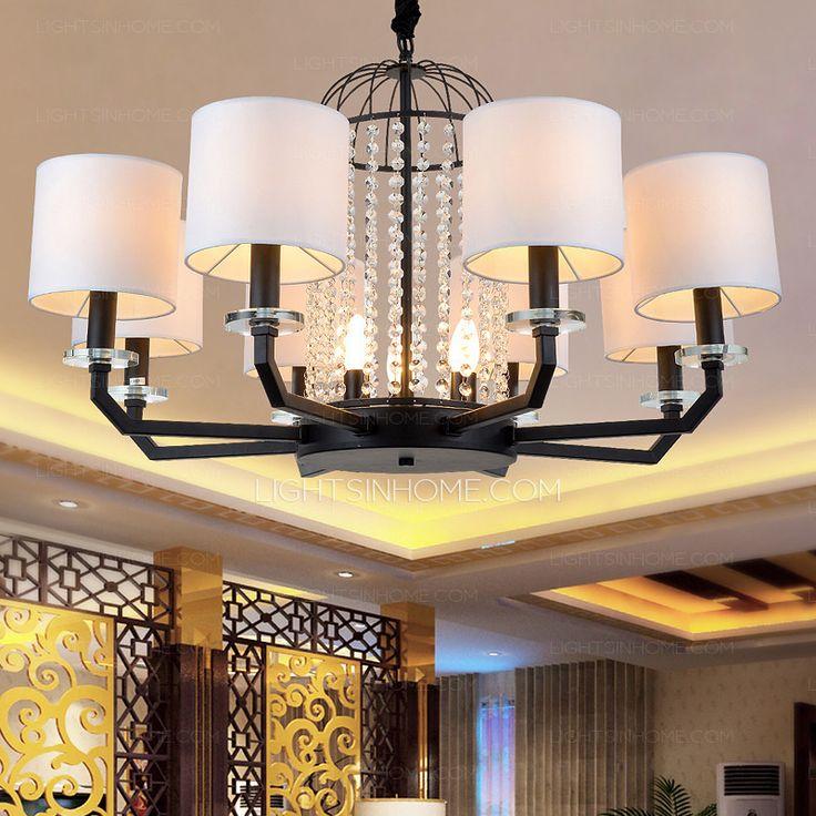 Designer Cage Shaped 8 Light Modern Dining Room Chandeliers