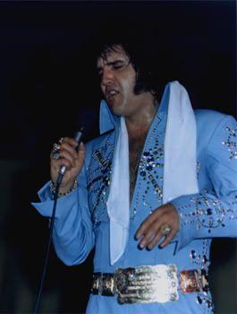 "Elvis Presley In Concert - The ""Aztec Star"" jumpsuit made it's debut during Elvis' 1972 November tour."
