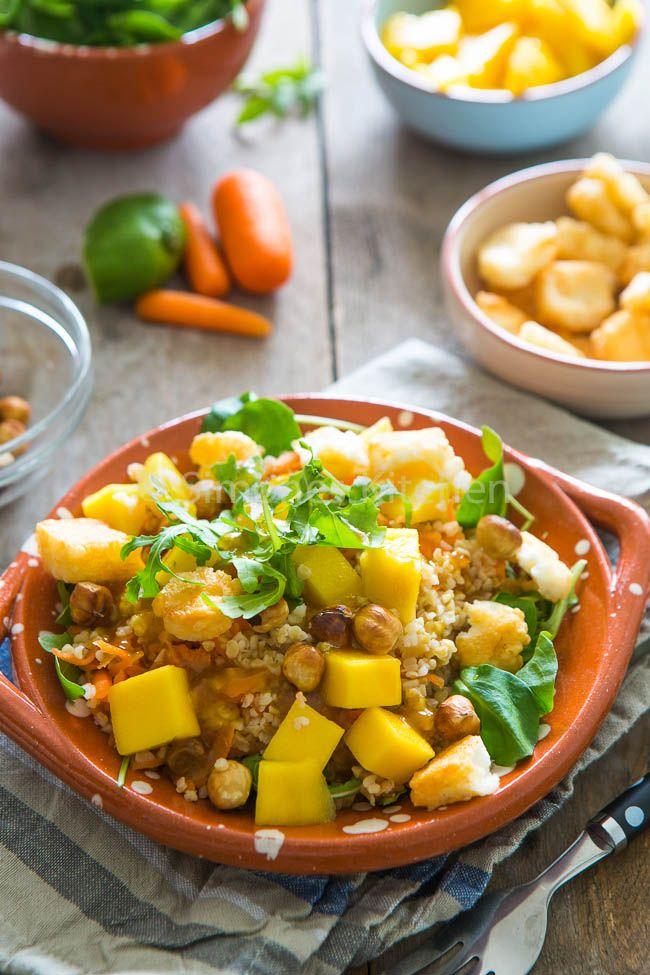 Bulghur mango salade met hazelnoten en een nieuwe fiets