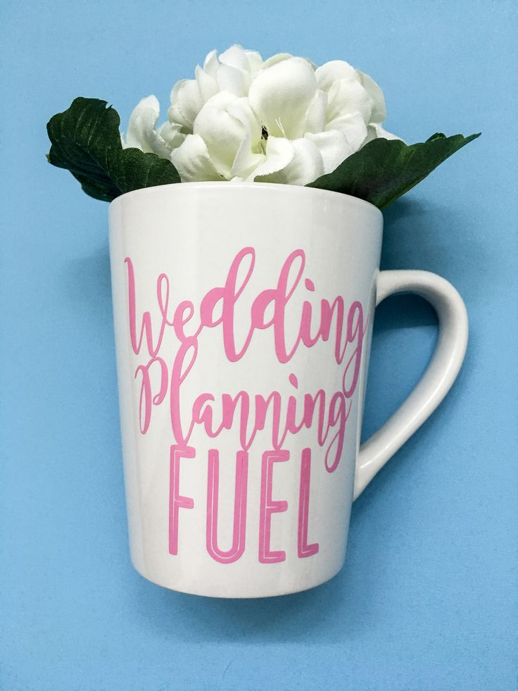 Perfect gift for a bride to be! Wedding planning fuel mug only $12.50!!! Http://beeverthine.etsy.com  bride to be engaged newly engaged he put a ring on it he popped the question wedding planner bridesmaid maid of honor fiancée feyonce