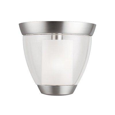 Kichler Lighting 3695NI 3695NI Lucia Flush Mount Ceiling Light, Brushed Nickel