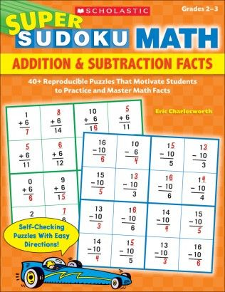 Super Sudoku Math: Addition & Subtraction Facts