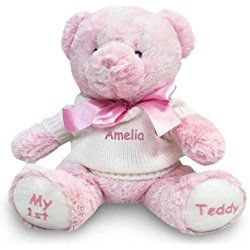 30 best personalized teddy bears for baby images on pinterest personalized baby gift my teddy bear pink 12 inch dibsies personalization station negle Gallery
