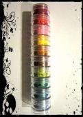 10 MYO Burning Hearts Eyeshadow Pigment Stackable Jar Set Mica Cosmetic Mineral Makeup.