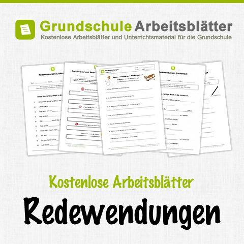 Kostenlose Arbeitsblätter und Unterrichtsmaterial für den Deutsch-Unterricht zum Thema Redewendungen in der Grundschule.